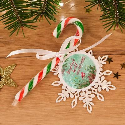 LIZAK na prezent świąteczny Laska Mikołaja CZERWONO-ZIELONA (+bilecik z Twoim podpisem)
