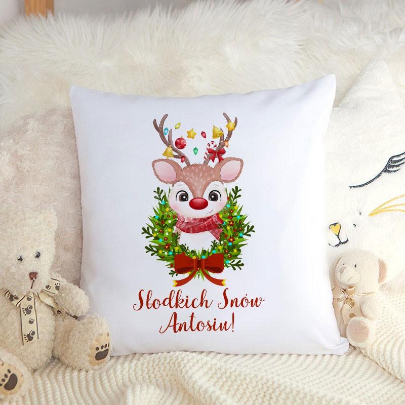 Poduszka z imieniem na prezent świąteczny dla dziecka
