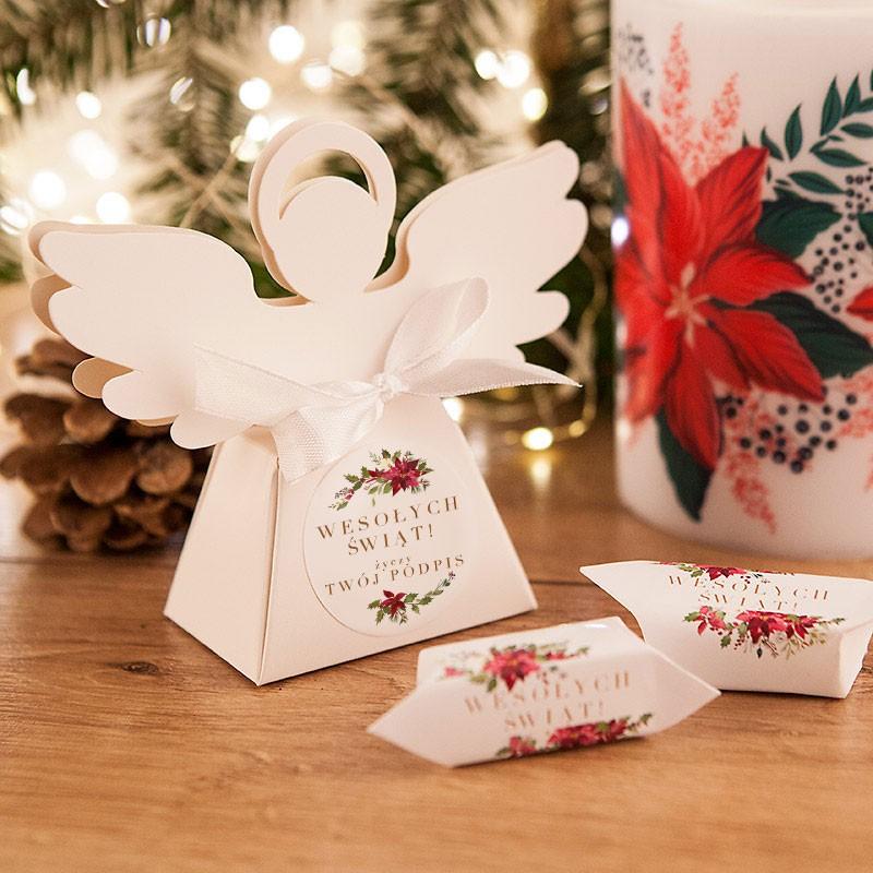 Pudełeczka na prezent świąteczny w kształcie Aniołka