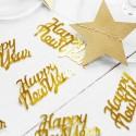 KONFETTI noworoczne metaliczne Happy New Year