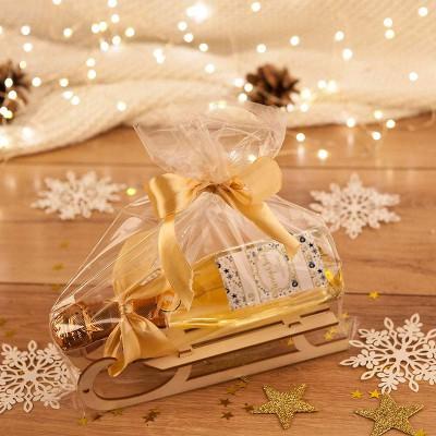 PREZENT świąteczny Szampan na sankach Zielone Święta (+opakowanie)