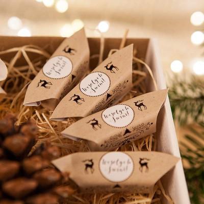 PREZENT świąteczny Kubek+miód+krówki Zimowy Wieczór Z IMIENIEM