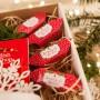 PREZENT świąteczny Kubek+miód+krówki Czerwone Święta Z IMIENIEM