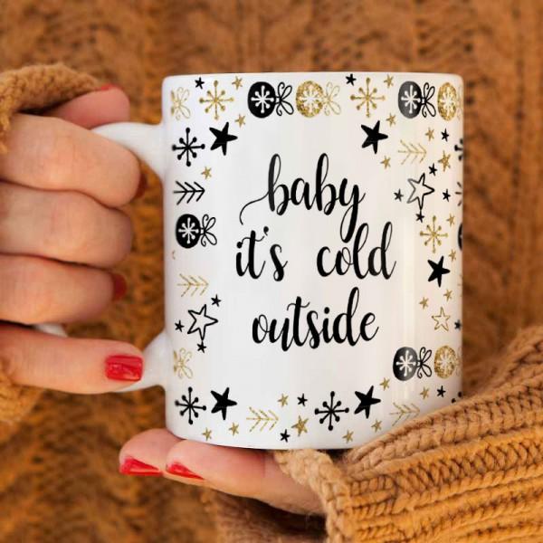 KUBEK świąteczny na prezent Baby its cold outside