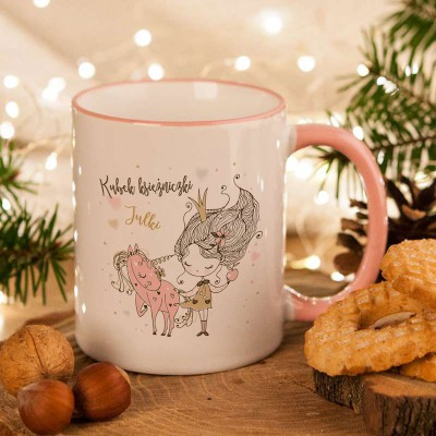 KUBEK na prezent świąteczny dla dziecka Księżniczka Z IMIENIEM