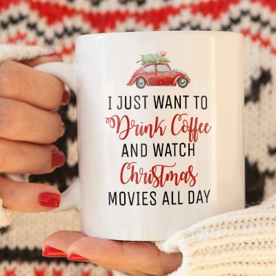 KUBEK świąteczny na prezent Just want to
