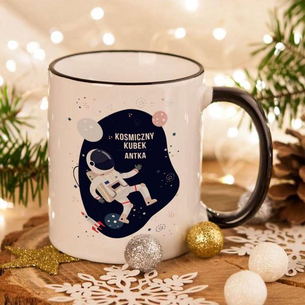 KUBEK na prezent świąteczny Astronauta Z IMIENIEM