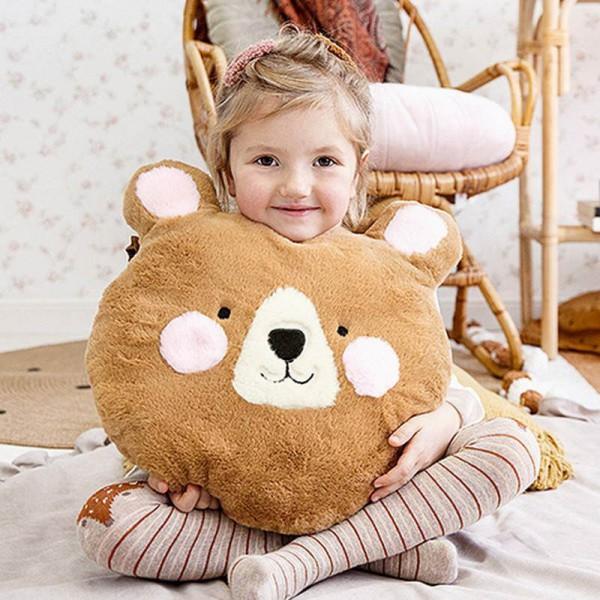 PREZENT świąteczny dla dziecka maskotka poduszka Miś 36x37cm