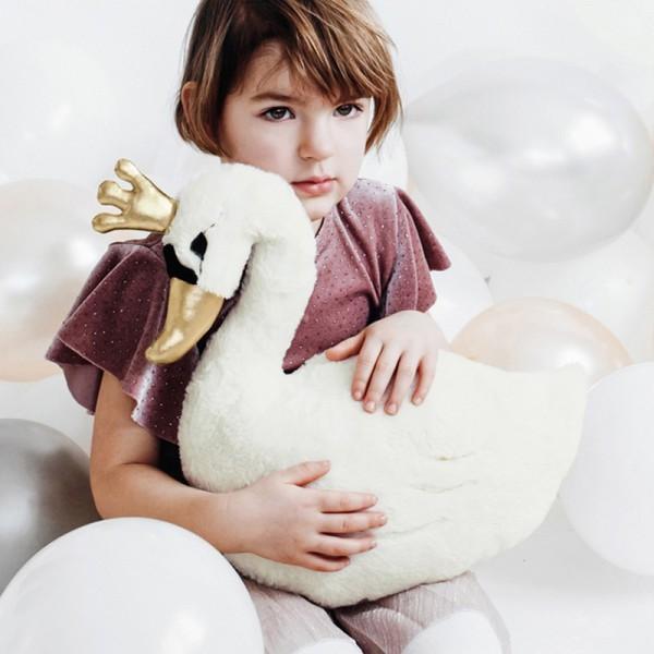 PREZENT świąteczny dla dziecka maskotka poduszka Łabędź 34x35cm