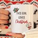 KUBEK świąteczny na prezent This girl loves Christmas