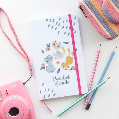 PREZENT świąteczny dla dziecka Pamiętnik Z IMIENIEM Kotki 80 kartek czystych