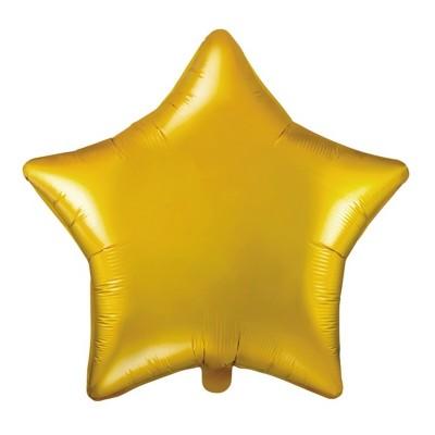BALON foliowy Gwiazda 45cm ZŁOTY