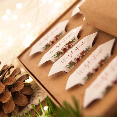 PREZENT świąteczny Pudełko z krówkami Z TWOIM PODPISEM Naturalne Święta