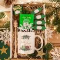 PREZENT świąteczny Kubek+miód+krówki Zielone Święta Z IMIENIEM