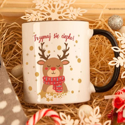 ZESTAW świąteczny w skrzyni Premium z termoforem Z TWOIM NADRUKIEM