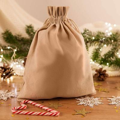 WOREK na prezenty świąteczne lniany 26x35cm