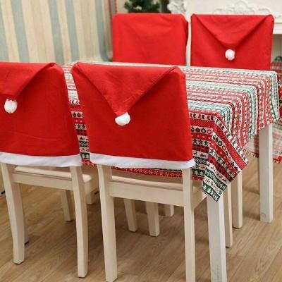 POKROWIEC na krzesło świąteczny Mikołaj