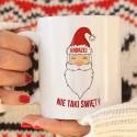 KUBEK świąteczny na prezent dla chłopaka Z IMIENIEM Nie taki Święty