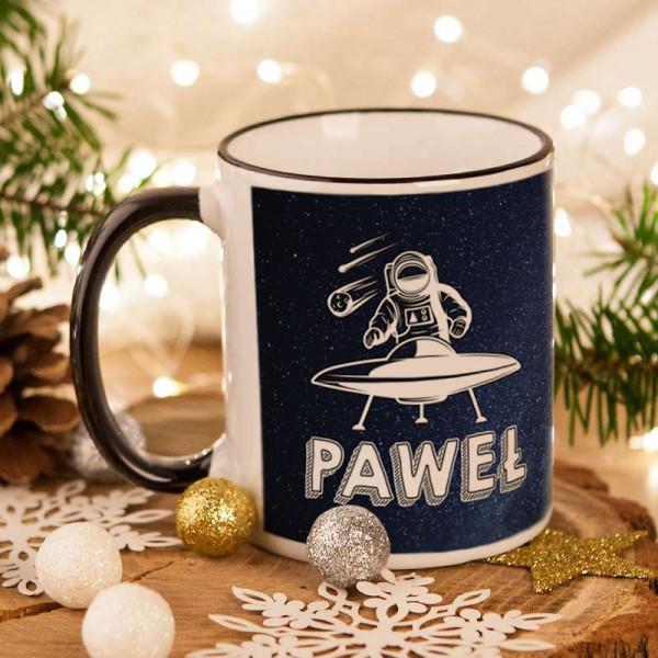 KUBEK świąteczny na prezent dla chłopaka Z IMIENIEM Najlepszy w całej galaktyce