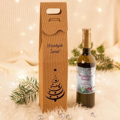 PREZENT świąteczny wino jarzębinowe w opakowaniu Z TWOIM PODPISEM