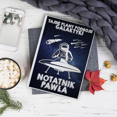 PREZENT świąteczny Notatnik Z IMIENIEM Plany podboju galaktyki
