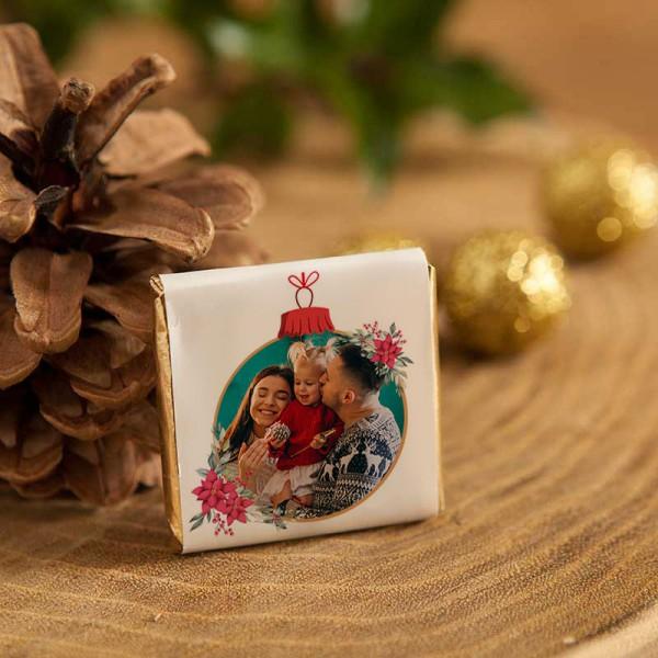 CZEKOLADKI świąteczne ZE ZDJĘCIEM i życzeniami 10szt