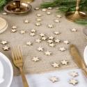 KONFETTI świąteczne drewniane Gwiazdki 50szt
