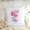 PREZENT świąteczny dla Mamy poduszka Kwiaty Z IMIONAMI