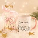 KUBEK świąteczny na prezent + pianki Marshmallow Z IMIENIEM Winter Animals