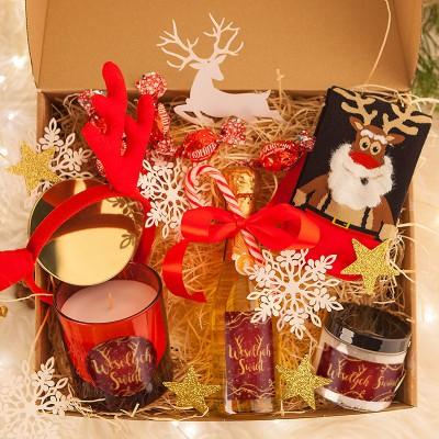 KOSZ prezentowy Z TWOIM PODPISEM Świąteczna Aromaterapia z szampanem