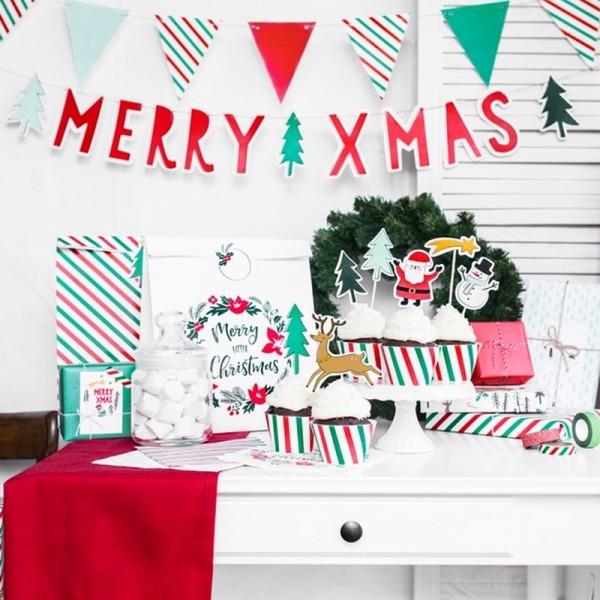 BANER dekoracyjny Merry Xmas 120cm