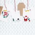 ZAWIESZKI do prezentów Merry Christmas 6szt