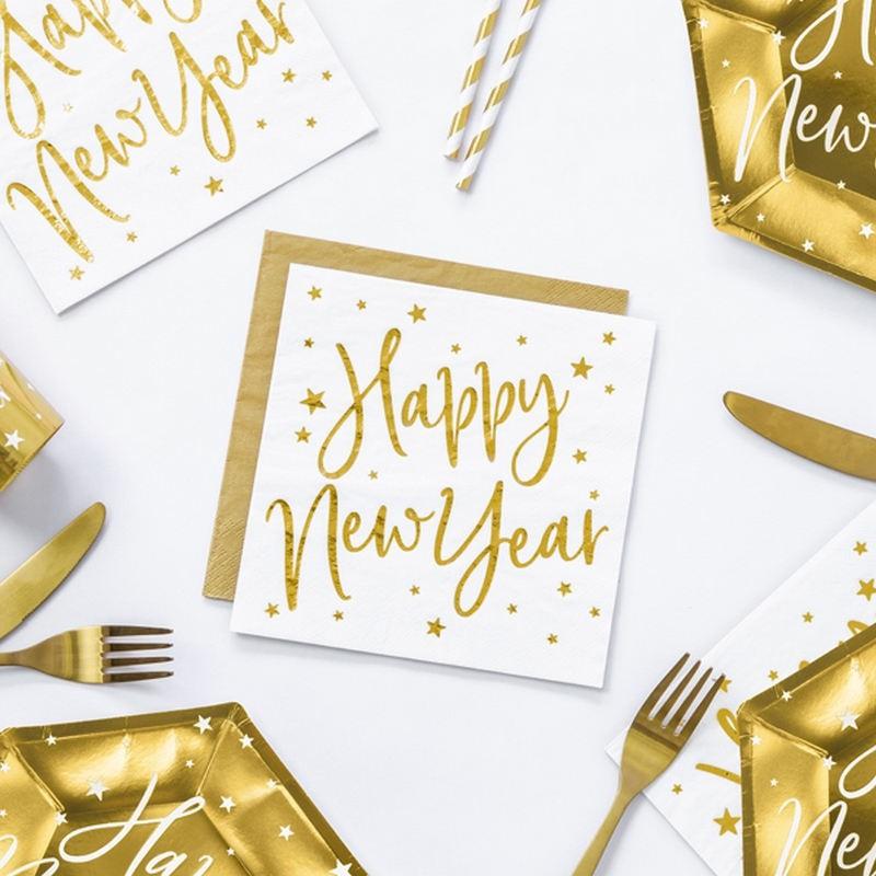 Serwetki na Sylwestra z napisem Happy New Year
