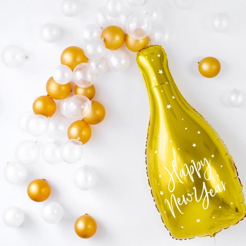 Balon na Sylwestra w kształcie butelki
