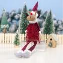RENIFER świąteczny dekoracja świąteczna MEGA DUŻY 37cm CZERWONY