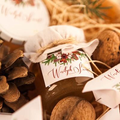 PREZENT świąteczny miód w słoiczku Naturalne Święta