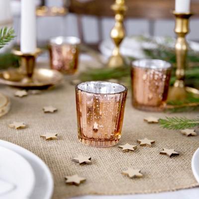 ŚWIECZNIKI świąteczne wysokie na tealighty ROSEGOLD 4szt