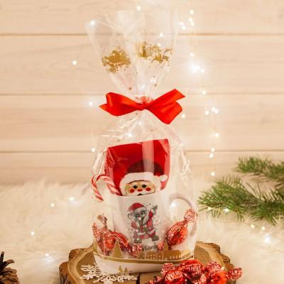 KUBEK świąteczny na prezent ZE SKARPETAMI Mikołaj Z IMIENIEM