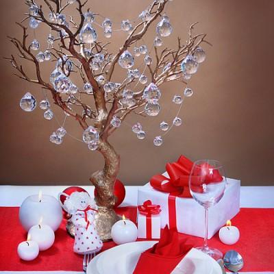 GIRLANDA świąteczna kryształowa kulki 2m