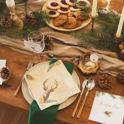 CIASTECZKO świąteczne z wróżbą Woodland