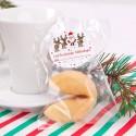 CIASTECZKA świąteczne z wróżbą dla dzieci Mikołaj i renifery 10szt