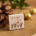 CZEKOLADKI świąteczne na prezent dla dzieci Mikołaj i renifery 10szt