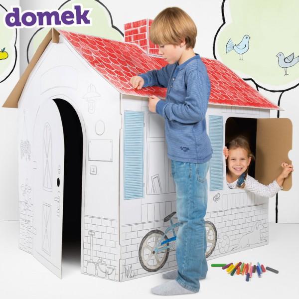 DOMEK z tektury do kolorowania prezent świąteczny Twój Domek GIGA 133cm