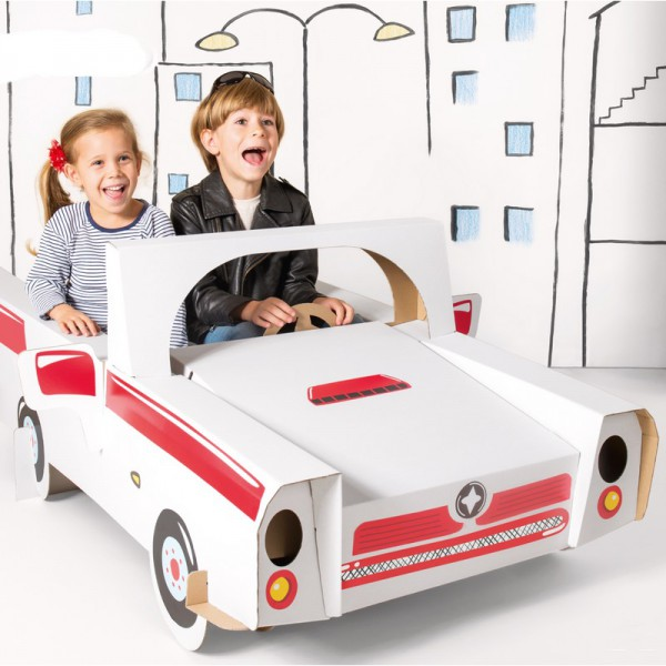 SUPER Auto do kolorowania prezent świąteczny GIGA 145cm +naklejki