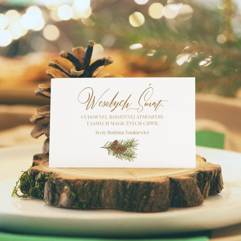 Bilecik z życzeniami świątecznymi i Twoim podpisem