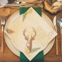 SERWETKI świąteczne flizelinowe Woodland 40x40cm 50szt