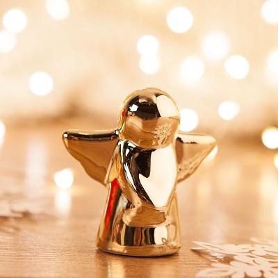 ANIOŁ na upominki świąteczne dla dzieci 6cm ZŁOTY