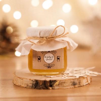 PREZENT świąteczny miód w słoiczku Zimowy Wieczór
