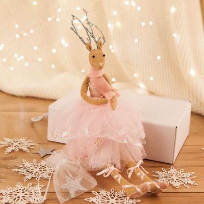 DEKORACJA świąteczna prezent dla dziecka Baletnica Reniferek