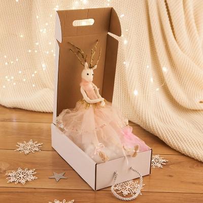 PREZENT świąteczny dla dziecka Z IMIENIEM Maskotka Ballerina KREM +woreczek